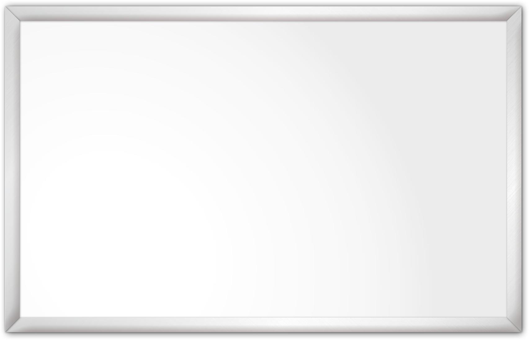 comfortSoft1500 ir. verw.paneel, 750W, 1250 x 790 mm, lelie wit, lijst mat zilver, softline