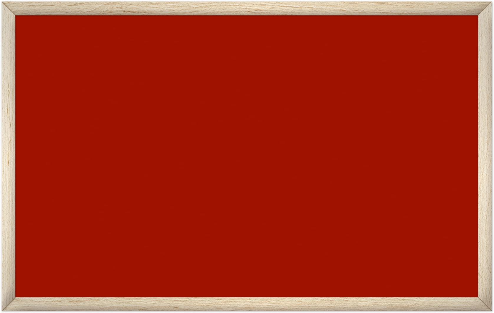 comfort2000 ir. verw.paneel, 1025W, 1250 x 790 mm, mohnrot rood, lijst esdoornhout gelakt