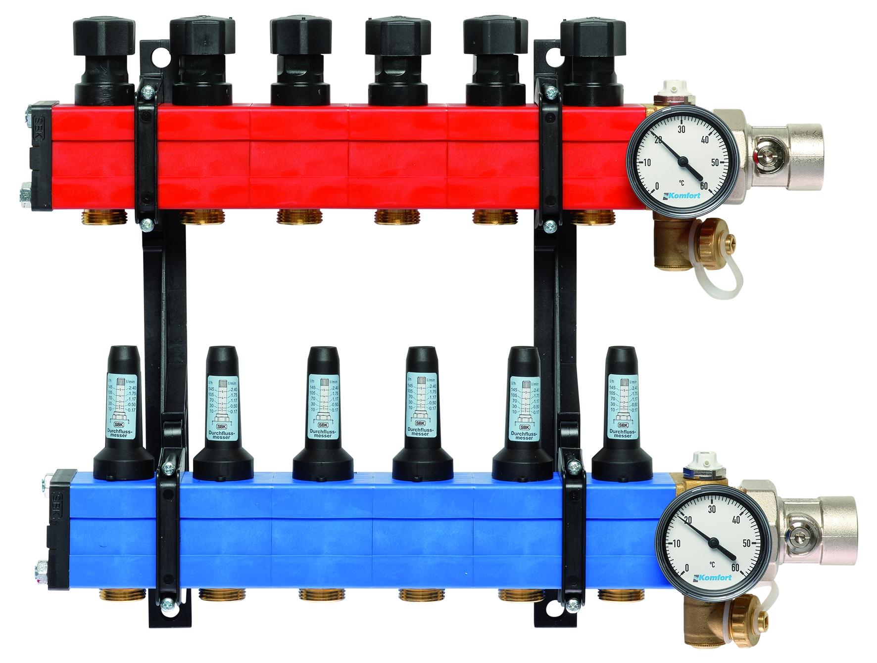 Komfort verdeler type 4010 10 tot 145 l/u., 6-gr.