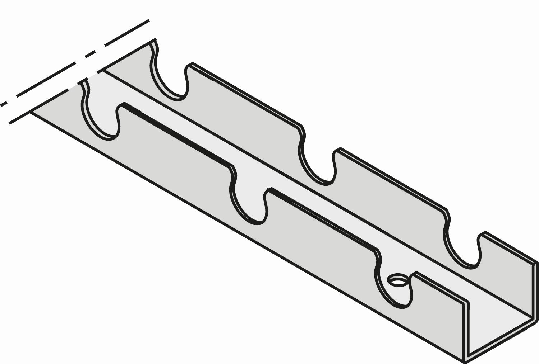 Uponor Fix montageprofiel 14mm c/c50mm 2,5m