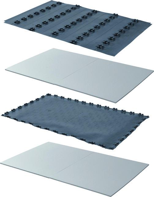 Uponor Nubos noppenplaat verdeler/deurset EPS 30-2 14-16mm 1447x900x48