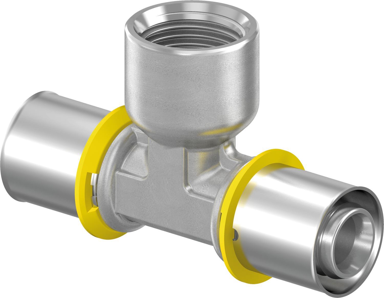 Uponor GAS-Press T-stuk binnendraad 25-Rp3/4