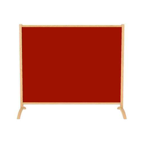 emotion1500 ir. verw.paneel, 750W, 1260 x 950 mm, mohnrot rood, lijst esdoornhout gelakt