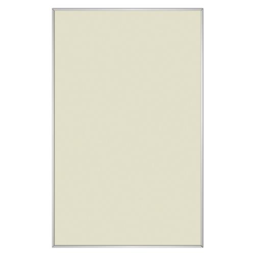 comfort2000 ir. verw.paneel, 1025W, 1206 x 746 mm, licht ivoor, lijst mat zilver, U-Line elegance, uitsluitend voor easyPlan vertikaal