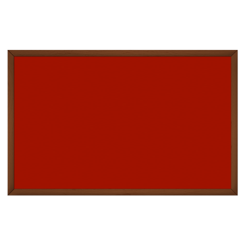 comfort2000 ir. verw.paneel, 1025W, 1250 x 790 mm, mohnrot rood, lijst kersenhout gelakt
