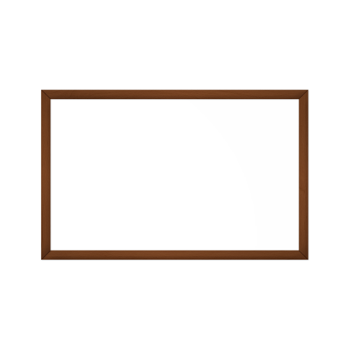 comfort1350 ir. verw.paneel, 675W, 1020 x 650 mm, lelie mat wit, lijst notenhout in olie