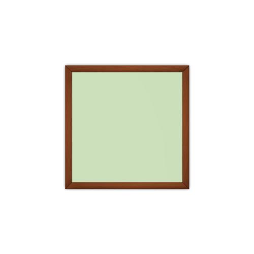 comfort700 ir. verw.paneel, 350W, 650 x 650 mm, crème groen, lijst kersenhout in olie