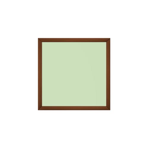 comfort700 ir. verw.paneel, 350W, 650 x 650 mm, crème groen, lijst kersenhout gelakt