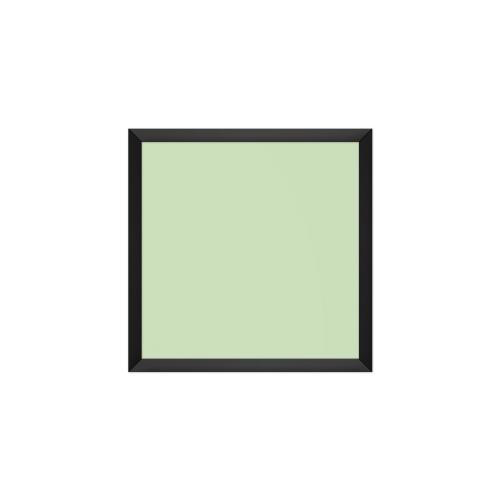 comfort700 ir. verw.paneel, 350W, 650 x 650 mm, crème groen, lijst mat zwart, softline