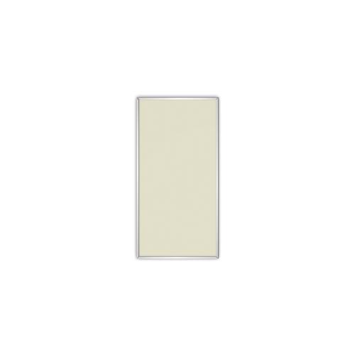 comfortSoft250 ir. verw.paneel, 125W, 306 x 606 mm, licht ivoor, lijst mat zilver, U-Line elegance, uitsluitend voor easyPlan vertikaal