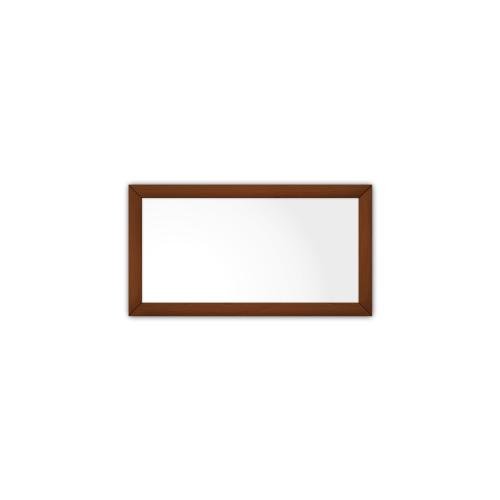 comfort350 ir. verw.paneel, 175W, 350 x 650 mm, lelie wit, lijst notenhout gelakt
