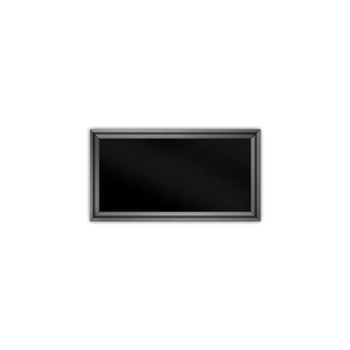 comfort350 ir. verw.paneel, 175W, 350 x 650 mm, gitzwart, lijst hoogglans platina, softline