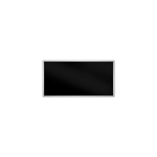 comfort350 ir. verw.paneel, 175W, 306 x 606 mm, gitzwart, lijst mat zilver, U-Line elegance,
