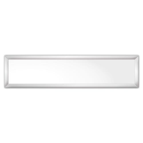 comfortSoft501 ir. verw.paneel, 250W, 1250 x 300 mm, lelie wit, lijst mat zilver, softline