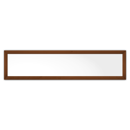 comfortSoft501 ir. verw.paneel, 250W, 1250 x 300 mm, lelie wit, lijst notenhout in olie