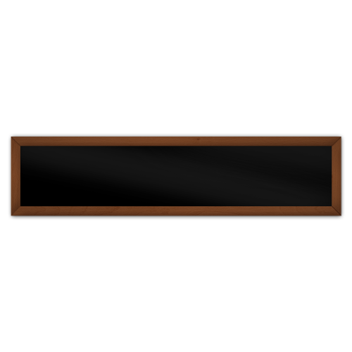 comfortSoft701 ir. verw.paneel, 350W, 1250 x 300 mm, gitzwart, lijst kersenhout gelakt