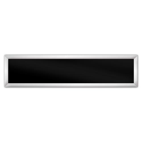 comfortSoft701 ir. verw.paneel, 350W, 1250 x 300 mm, gitzwart, lijst mat zilver, softline