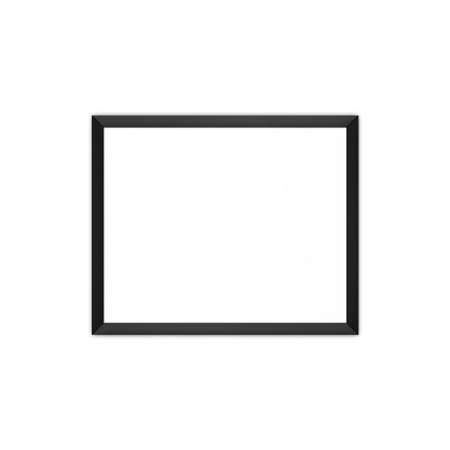 comfortSoft750 ir. verw.paneel, 375W, 790 x 650 mm, lelie mat wit, lijst mat zwart, softline