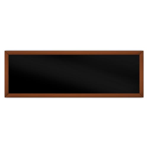 comfortSoft751 ir. verw.paneel, 375W, 1250 x 420 mm, gitzwart, lijst kersenhout in olie