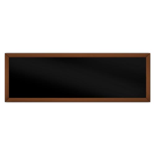 comfortSoft751 ir. verw.paneel, 375W, 1250 x 420 mm, gitzwart, lijst kersenhout gelakt