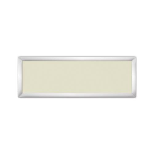 comfort651 ir. verw.paneel, 350W, 1020 x 350 mm, licht ivoor, lijst mat zilver, softline