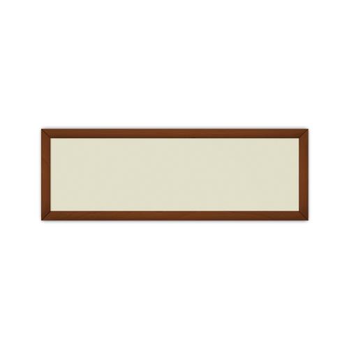 comfort651 ir. verw.paneel, 350W, 1020 x 350 mm, licht ivoor, lijst notenhout gelakt