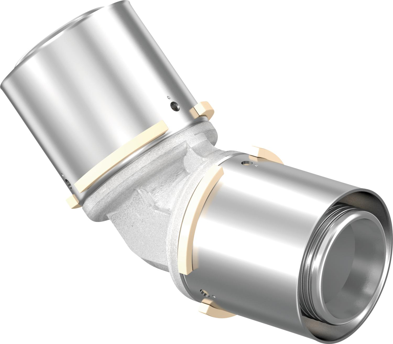 Uponor S-Press knie 45° 40-40