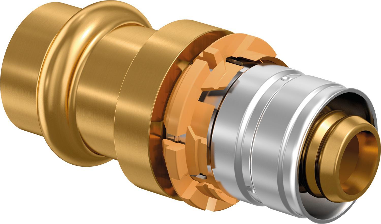 Uponor S-Press overgangskoppeling SST-CU V profiel, V 32-28CU-SST